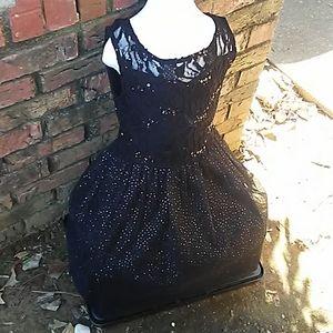 Fancy black dress for 8 year old